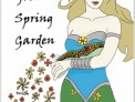 In Your Spring Garden with Plews Garden Design - cover illustration by Lucy Waterfield