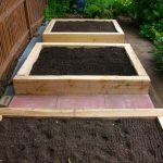raised bed, garden design, oak sleeper