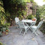Welsh slate patio, conservation area, plews garden design, London