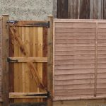 lap panel, fence, lap panel fence, garden fencing, gate