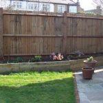 garden design - patio, fencing, lawn, raised flower borders, plews garden design, plewsgd, clay pots,