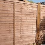 Lap panel fence, garden fencing,