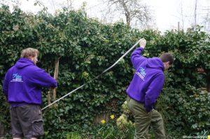site survey - garden design process, tape measure, levels, plews garden design, plews team, nathan waterfield