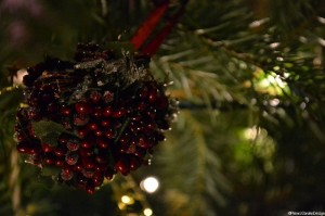 Christmas Tree Decoration - berry ball