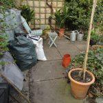 Welsh slate patio before