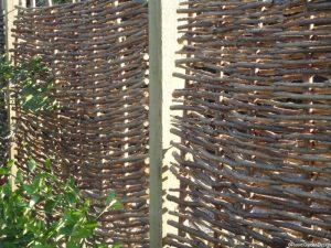 hazel hurdle fence, garden design, london, conservation area, garden fencing