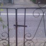 old metal gate - front garden design, london