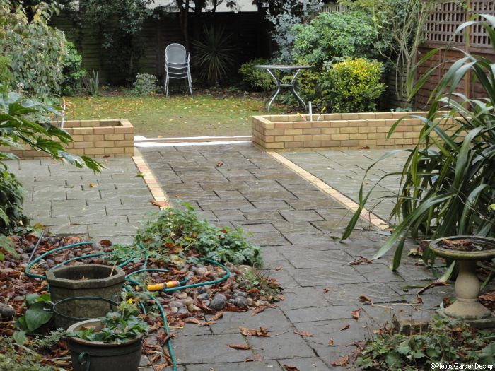 patio and raised beds