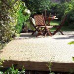 redhill, surrey, garden design, decking, cottage garden