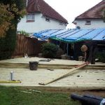 redhill, surrey, garden design, decking, garden fence