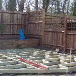 decking, raised beds, fencing, decking framework, shirley, Croydon, garden design