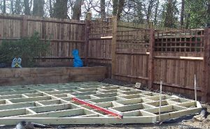 decking, raised beds, fencing, decking framework, shirley, Croydon, garden design