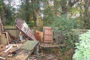 storm damage garden, fence, decking, raised beds, fencing, shirley, Croydon, garden design