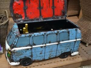camper van wine and beer cooler, chelsea flower show, RHS, garden ornaments