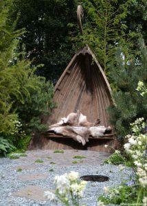 viking garden, seat, Chelsea flower show