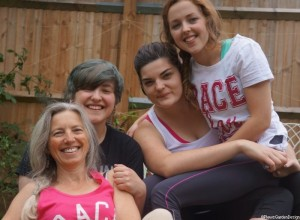 Plews Girls, Just Giving Race for Life, Cancer research, plews team, marie shallcross, hari waterfield, lucy waterfield, erin corbett