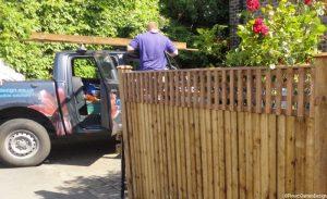 garden feather edge fence, trellis, plews truck, front garden, bromley