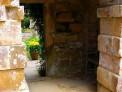 arch, yellow tulips, old castle, scotney castle, marie shallcross, kent, national trust garden