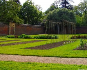 vegetable beds, walled kitchen garden, scotney castle, marie shallcross, kent, national trust garden