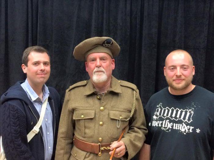 Kilted Tommy and Plews team at Brighton Fringe