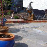 indian sandstone patio, pixie figure, bromley, kent