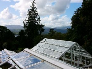 greenhouses at Holehird gardens, lake district