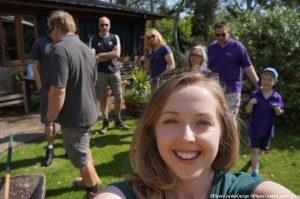 Hari, volunteer, memory garden, plews garden design, plews garden landscaping, st christophers hospice
