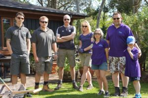 Plews Garden Design, Plews Garden Landscaping and volunteer friends, ready to clear the border for the memory garden at St Christophers Hospice