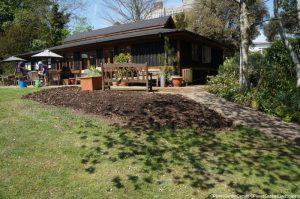 memory garden, border cleared, pavilion, plews garden design, plews garden landscaping, st christophers hospice