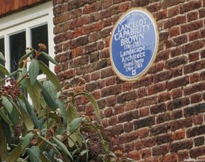 capability brown, blue plaque on the wilderness house, hampton court palace gardens, english heritage