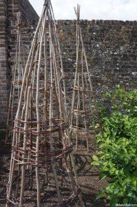 willow wigwams, kitchen garden, walled kitchen garden, grow your own