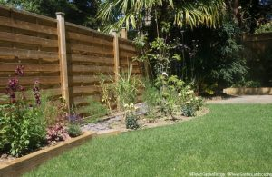 family friendly garden, planting design, raised beds, mixed herbaceous borders, lawn, garden designer, landscape gardener