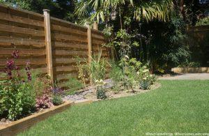 family friendly garden, planting design, raised beds, mixed herbaceous borders, lawn, garden designer, landscape gardener