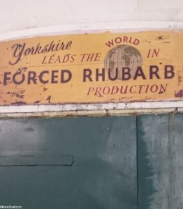 forced yorkshire rhubarb sign, Oldroyds farm