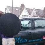moving fire pit, plews truck, circular fire pit, with cover, garden designer, landscaper, garden project, kent
