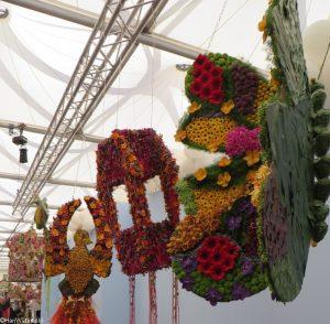 kites, floral displays, great pavilion, RHS Chelsea Flower Show 2017