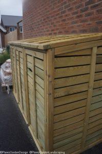 wooden bin store, garden sundries