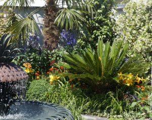 charleston garden, fountain, palms, world gardens, great gardens of the USA, rhs hampton court flower show 2017