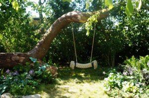 childrens wild garden, swing, zoflora and cauldwell, Show gardens, rhs hampton court flower show 2017