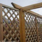 diamond trellis fence, wooden pergola, garden project, garden designer, landscape gardener