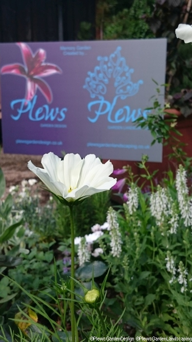 Memory garden, advertising board, Plews, st christophers hospice, sydenham, bromley, london