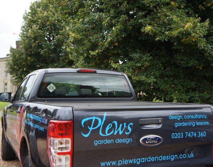 plews truck, chiddingstone castle visit, garden designer, garden consultant, gardening lessons
