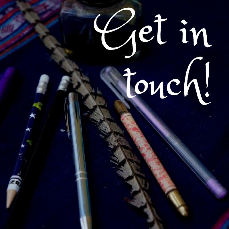 get in touch, contact us, plews garden design, pens, pencils, quill, ink