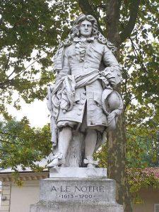 Statue of Andre Le Nôtre at Versailles, https:/upload.wikimedia.org/wikipedia/commons/7/75/Versailles_Statue_Le_N%C3%B4tre.JPG, landscape architect, garden designer