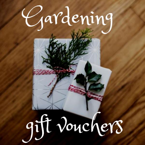 gardening gift voucher, plews